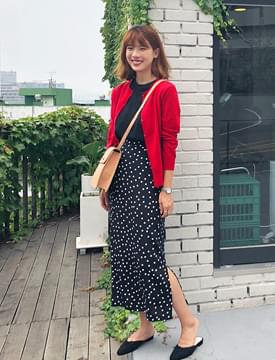 Julia dot long skirt_M (size : free)