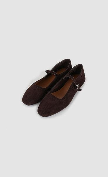 suede buckle cover shoes (2colors)