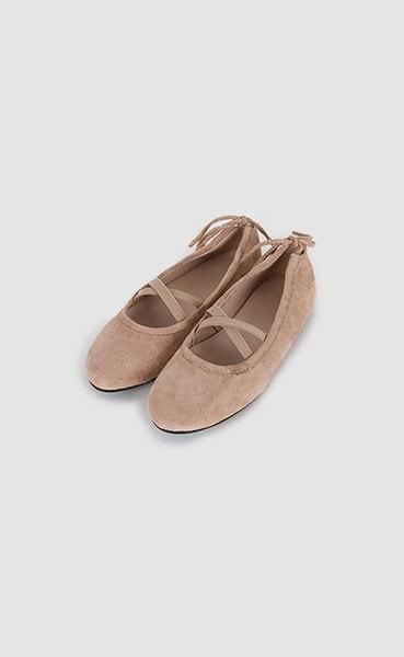 back ribbon ballet shoes (5colors)