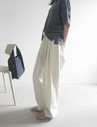 easy cotton wide pants (2colors)