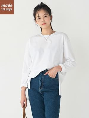 Layered Side Open Long Tee