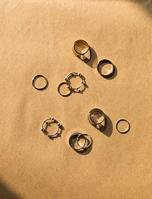 gentle layered ring set