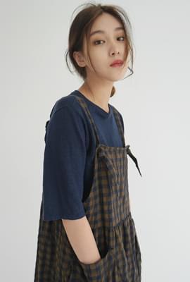 Linen loose fit sleeve tee