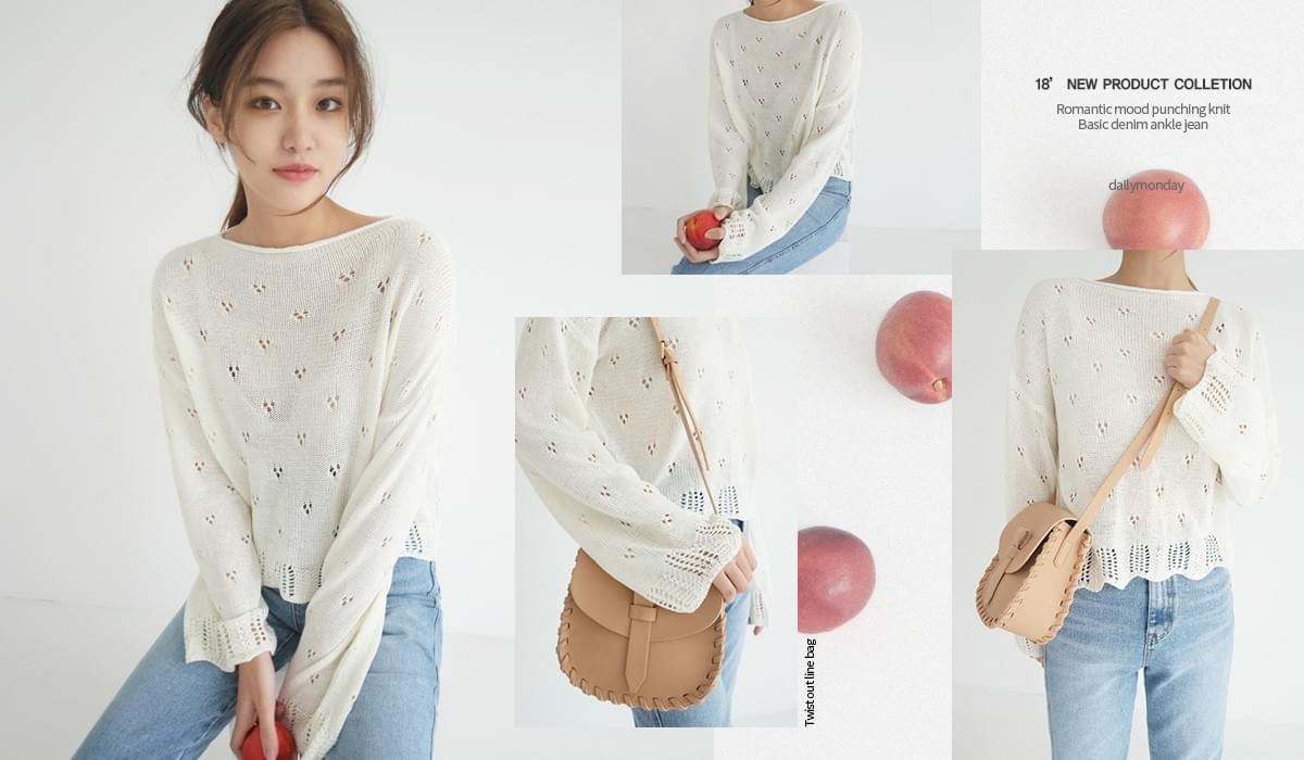 Romantic mood punching knit