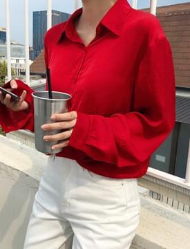 Ceremony satin blouse_M (size : free)