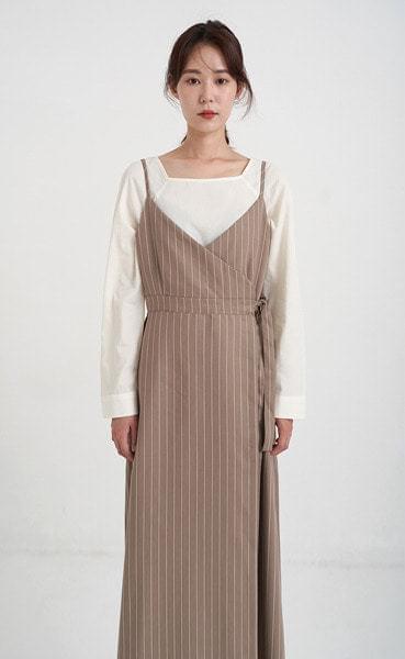 plain square neck blouse (2colors)