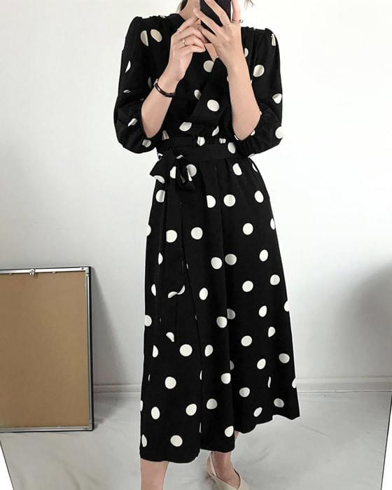 Chiffon King Dot Long Dress