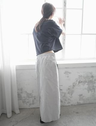 solid texture skirt (3colors)