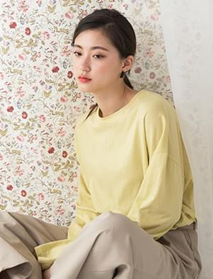 11colors single slit detail tee
