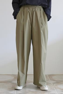 Over fit banding pants