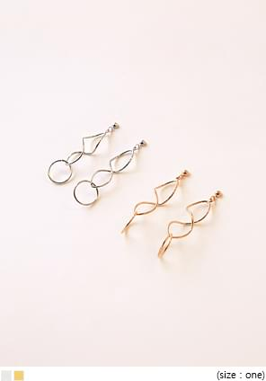 STRONG WAVE DROP EARRING 耳環