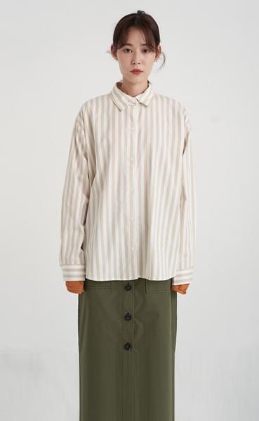 tone stripe shirt (3colors)