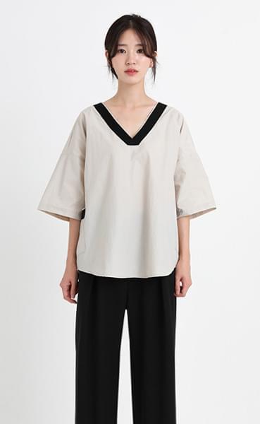 nylon pocket blouse (2colors)