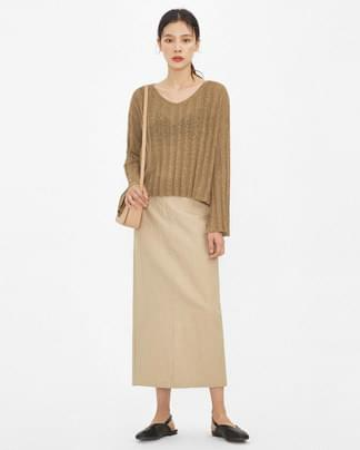 maple see-through knit