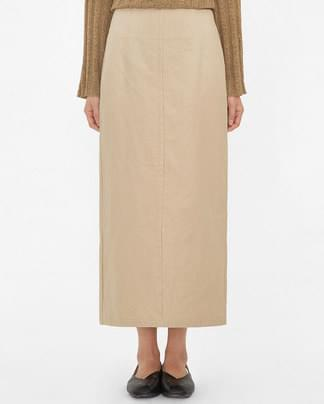 cafe back slit long skirt (s, m)