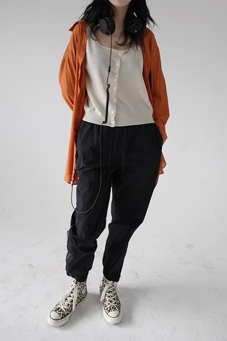 side detail jogger pants (2colors)