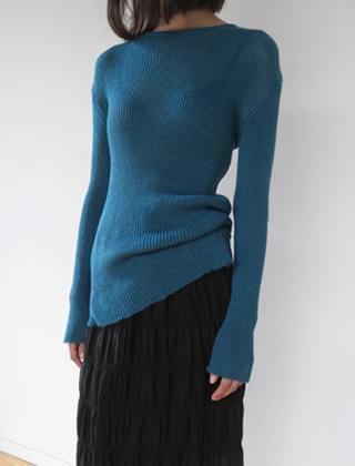 long sleeve see-through knit (4colors)