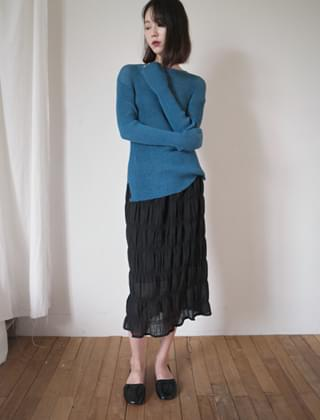 rimple cotton skirt (2colors)