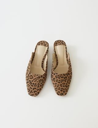 leopard cotton texture mules