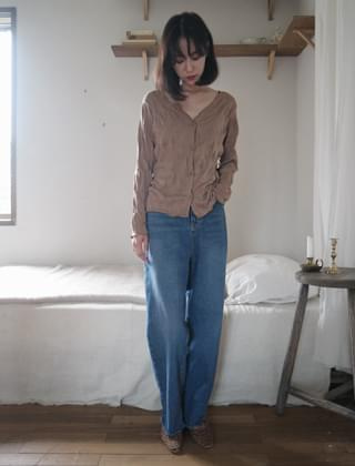 wide straight cutting jean