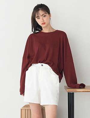 loose fit drop shoulder soft tee