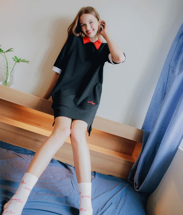 Heart Collar Coloration Dress