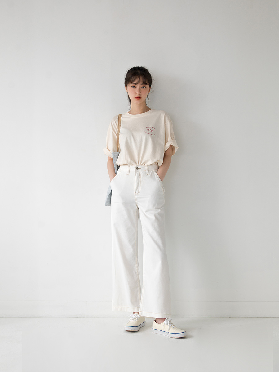 stitch wide pants