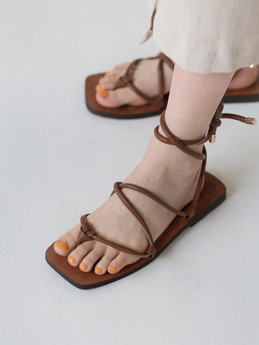 2 color summer strap sandal