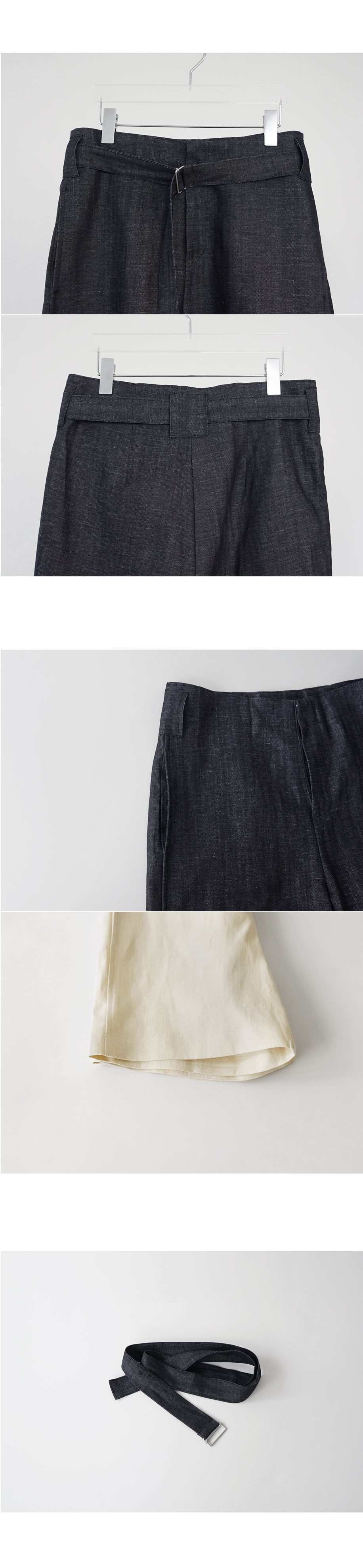 sturdy denim short pants (2colors)