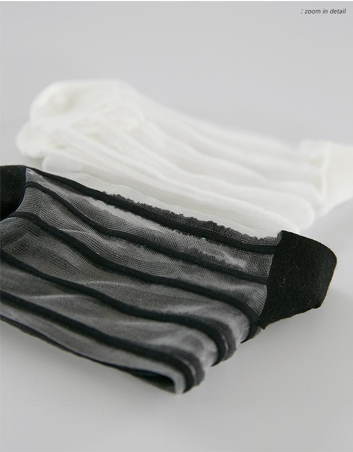 see-through stripe socks