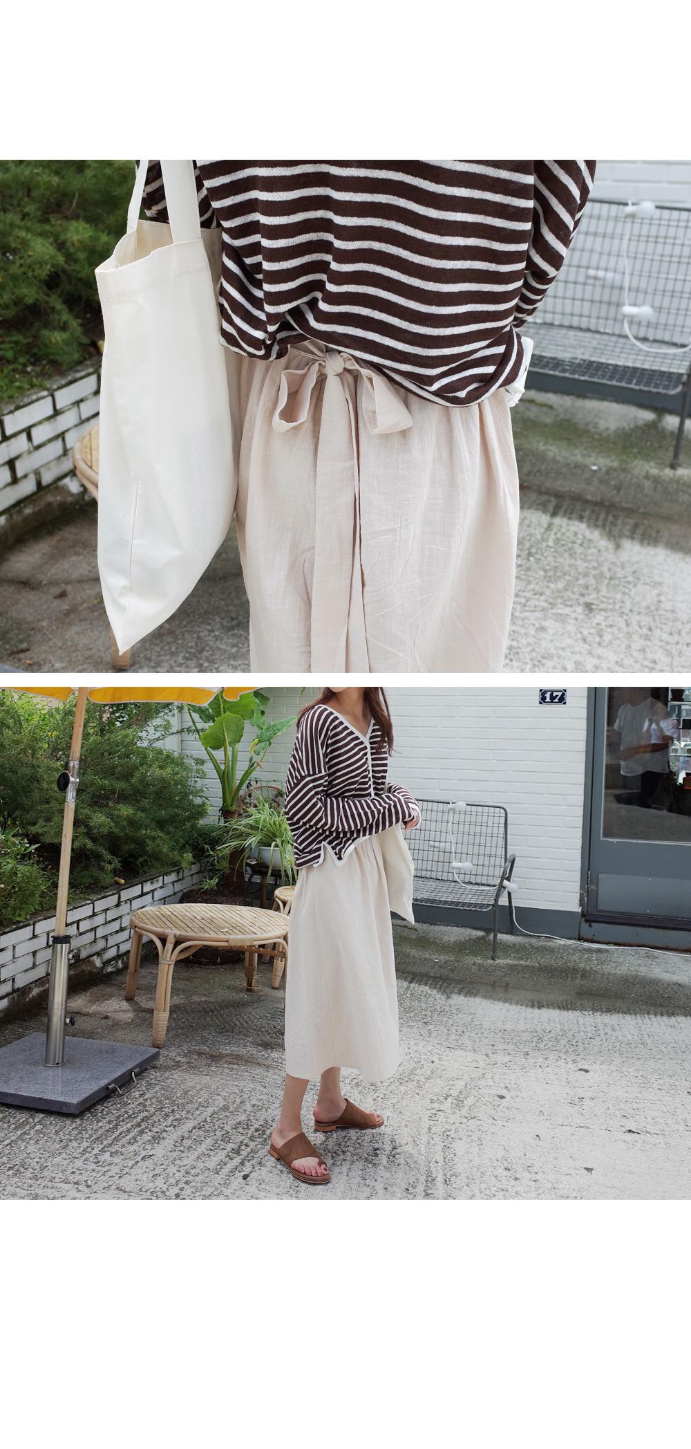 Strap long-bending skirt