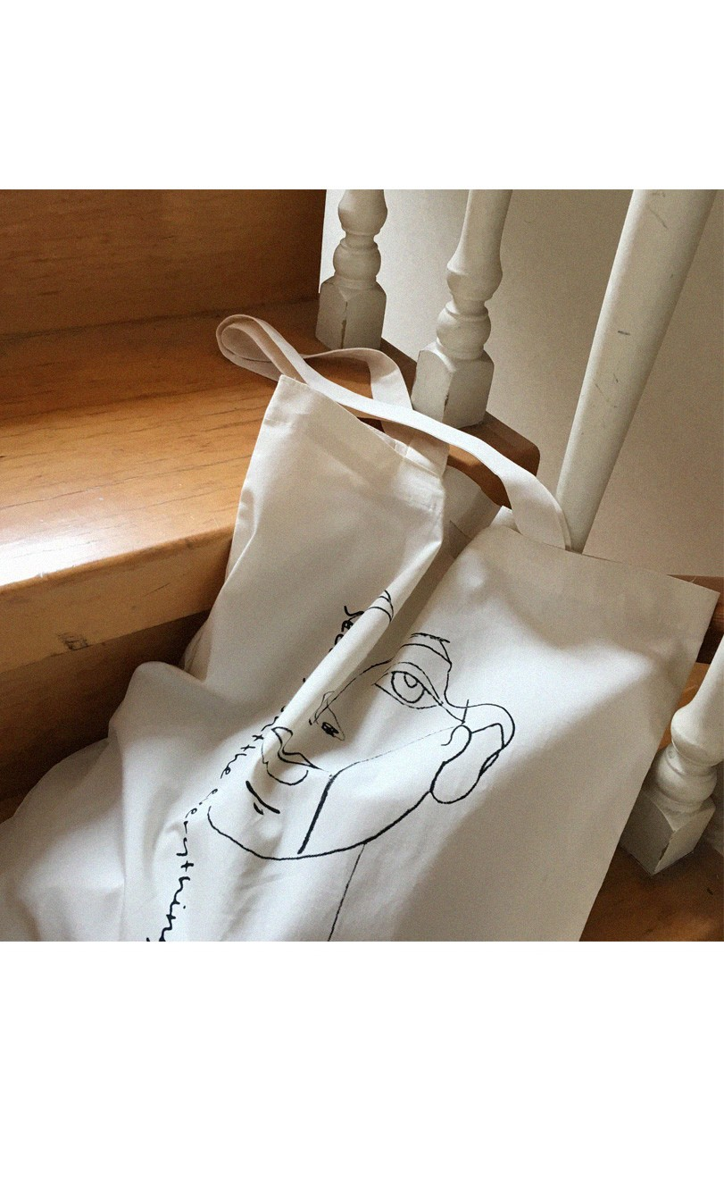 Face Drawing Eco Bag