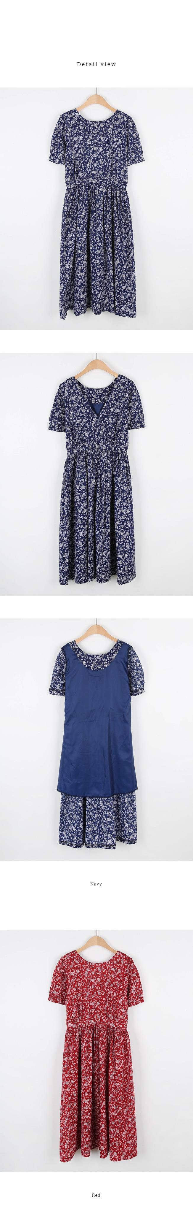 One point flower dress