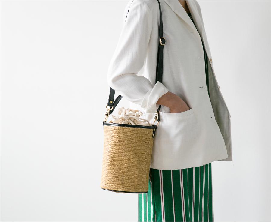 slim minimal basket bag