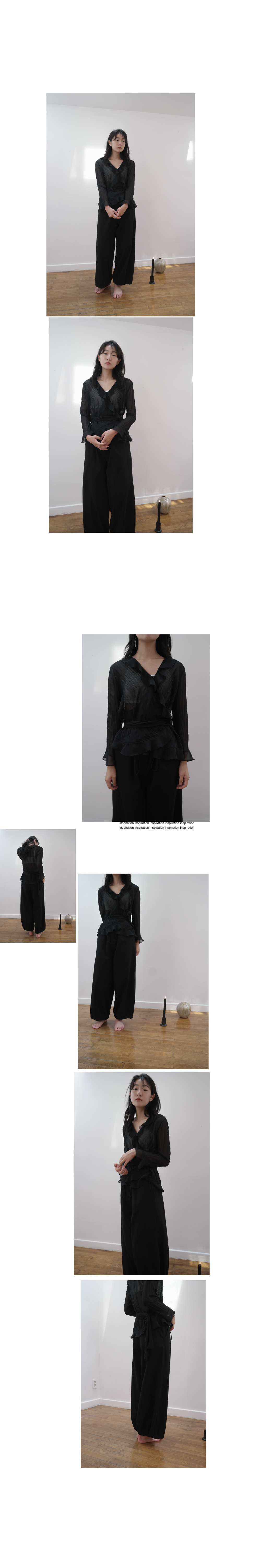 frill flimsy blouse (3colors)