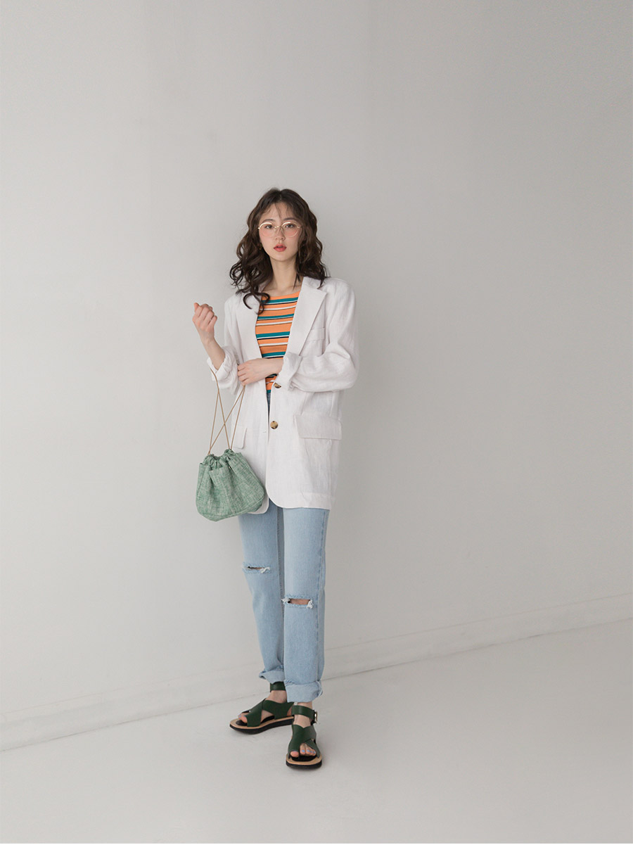 two button loose fit jacket