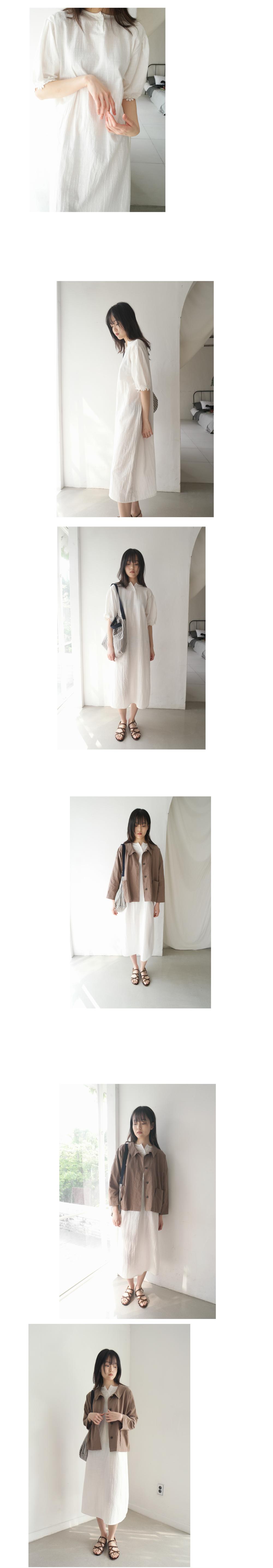 cozy wide linen jacket (2colors)