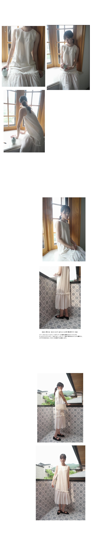 chiffon point H-line dress (2colors)