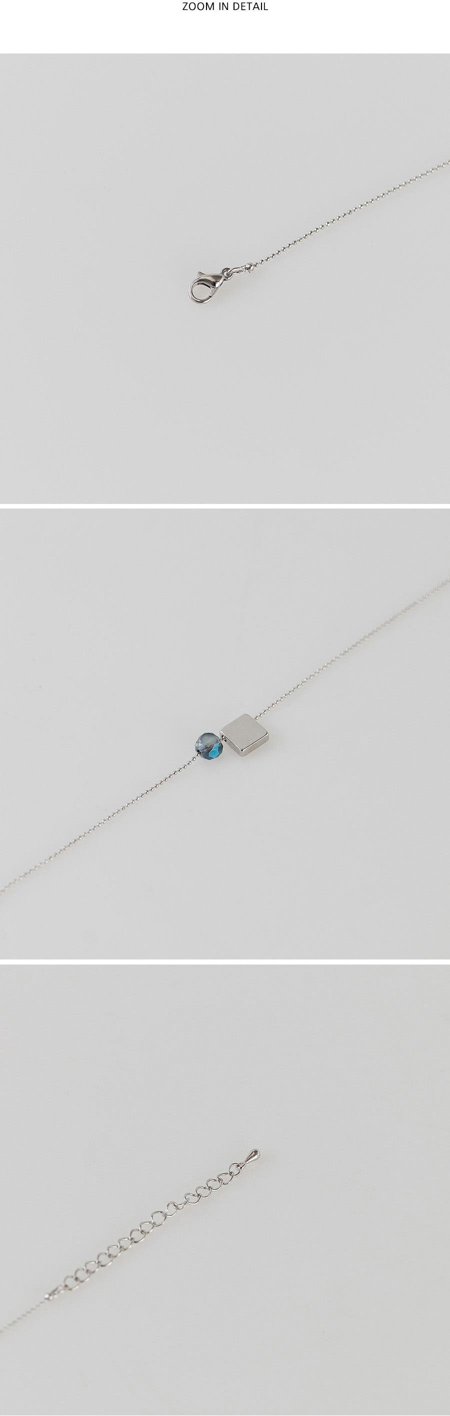 simple silver chain anklet