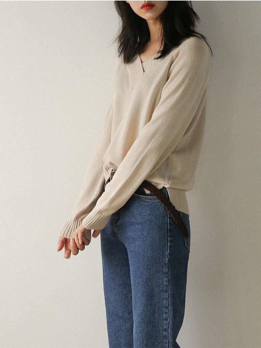 golgi v-neck slit knit