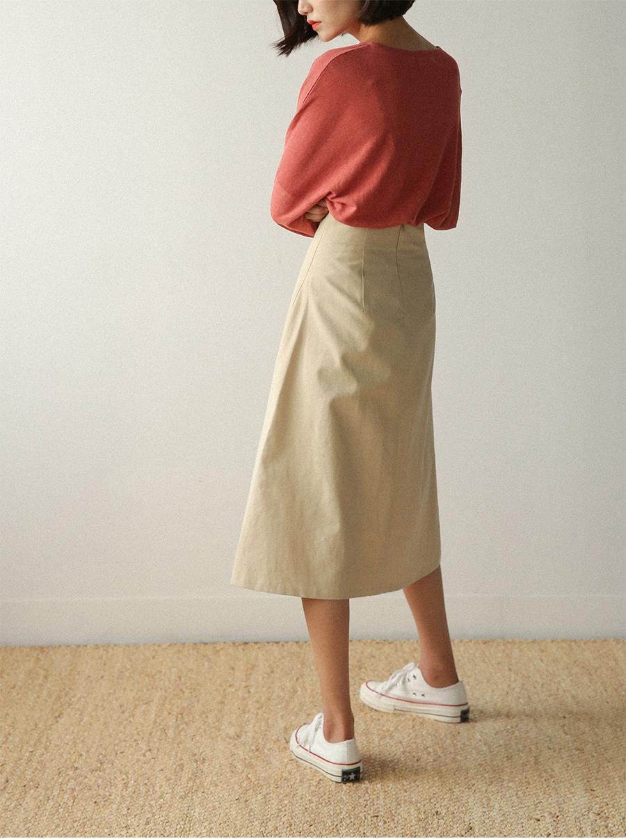 a-line highwaist midi skirt