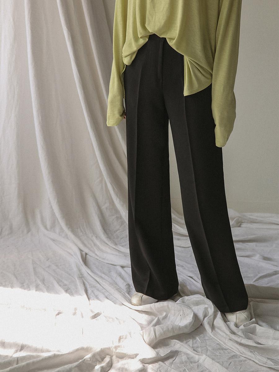 simple banding maxi slacks