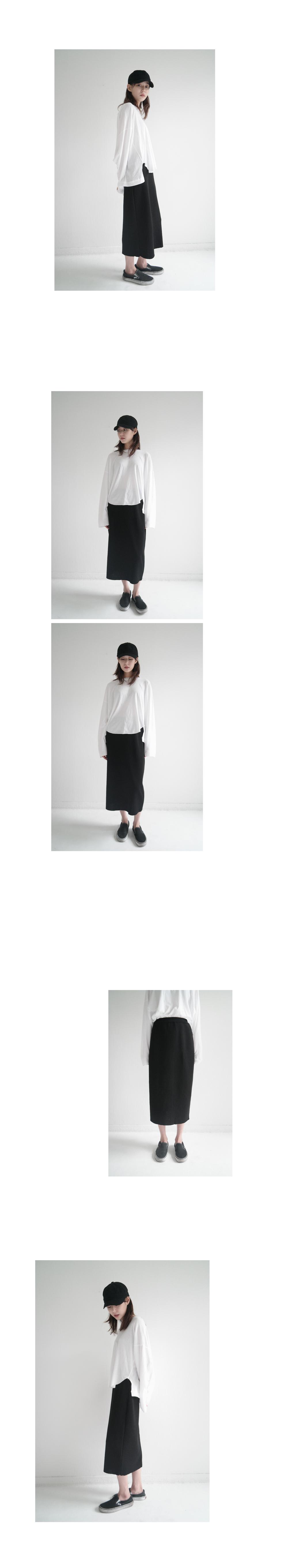 natural linen maxi skirt (2colors)