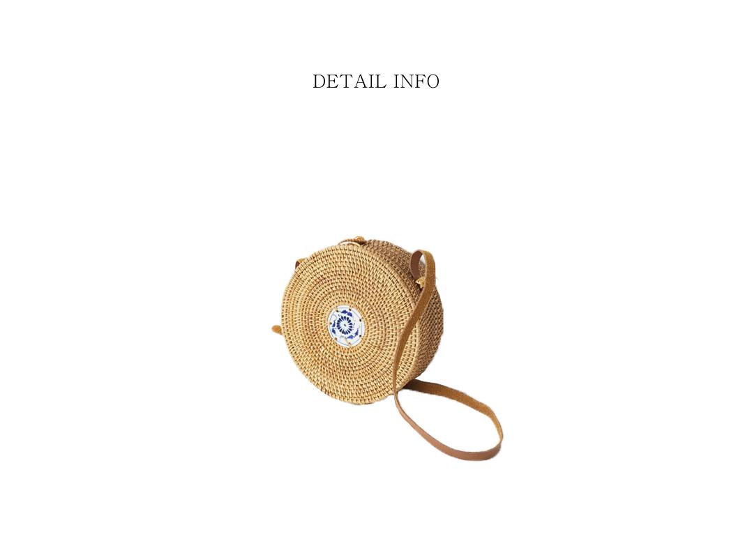 rattan ceramics round bag
