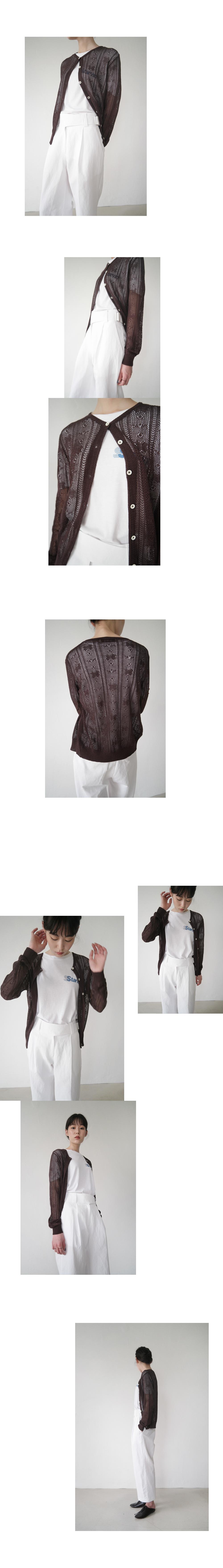 flower knitting cardigan (3colors)
