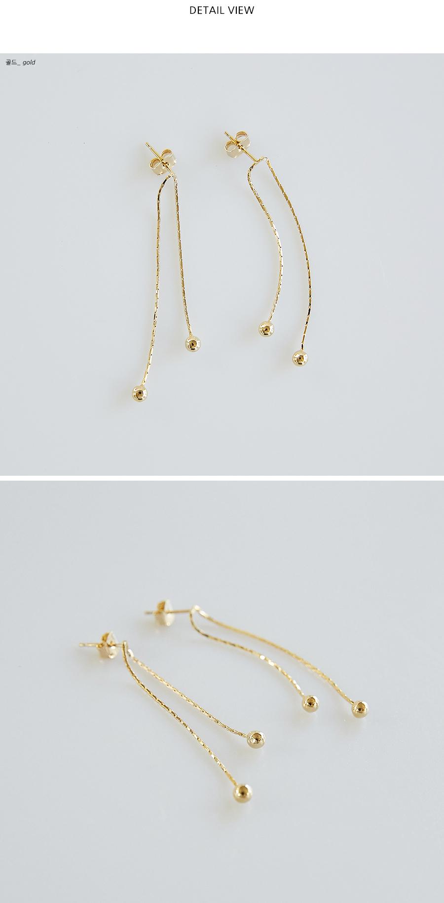 gold ball thin earring