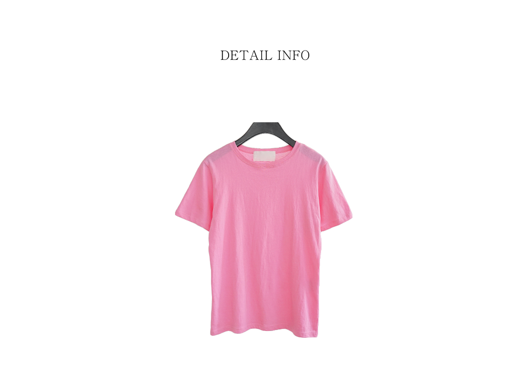 bright composition cotton tee (3colors)