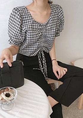 Etti - Checkered Shirt Blouse