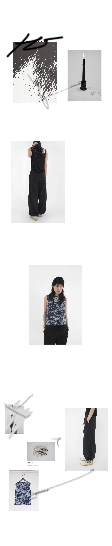 paisley back 3-button sleeveless (4colors)