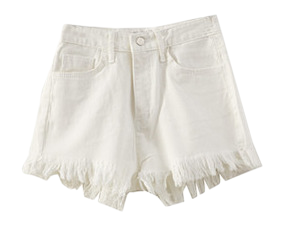 Bling fringe shorts